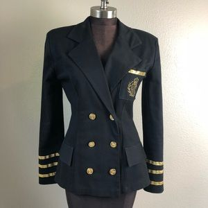 Vintage Capacity Military Nautical Blazer Medium